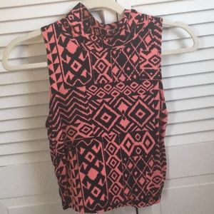 Crop tank mock top